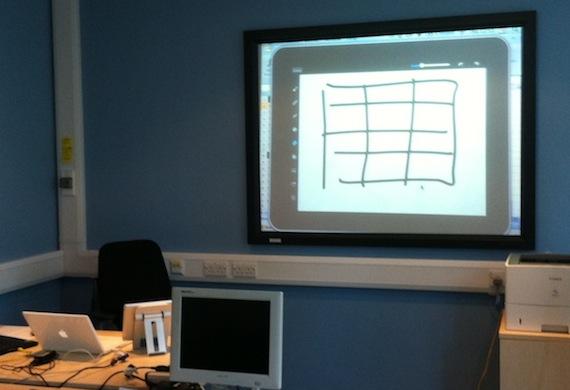 ipad displaying via monitor