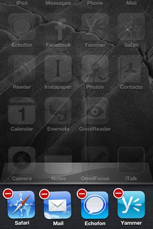 Closing an iPad or iPhone app